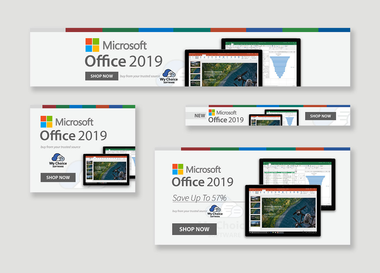 Office 2019 release campaign graphics